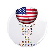 """USA soccer 3.5"""" Button"""