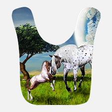 Horses Love Forever Bib