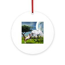 Horses Love Forever Ornament (Round)