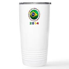 Brazil Soccer 2014 Travel Mug