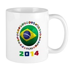 Brazil Soccer 2014 Mugs