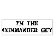 Commander Guy Bumper Bumper Sticker
