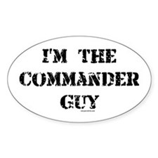 Commander Guy Oval Decal