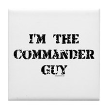 Commander Guy Tile Coaster