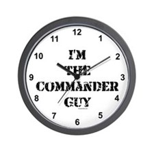Commander Guy Wall Clock