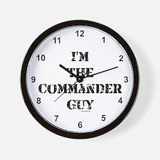 Commander Guy Wall Clock