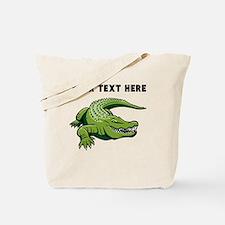 Custom Green Alligator Tote Bag
