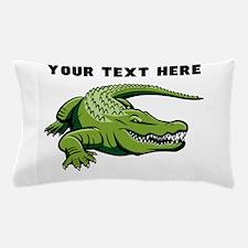 Custom Green Alligator Pillow Case