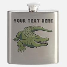 Custom Green Alligator Flask
