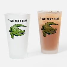 Custom Green Alligator Drinking Glass