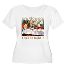 NEW_ALICE_WE'RE_MAD_GOLD Plus Size T-Shirt