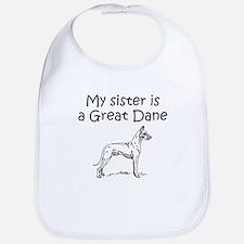 My Sister Is A Great Dane Bib