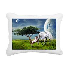 Horses Love Forever Rectangular Canvas Pillow