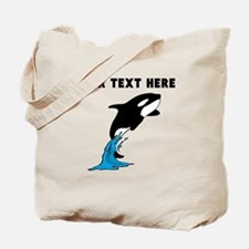 Custom Killer Whale Tote Bag