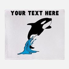 Custom Killer Whale Throw Blanket