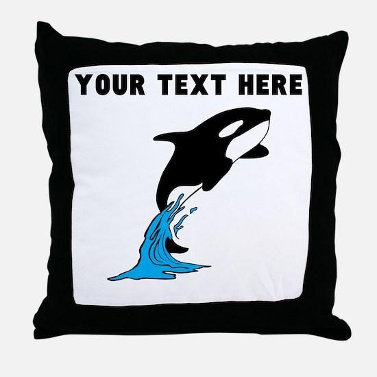 Custom Killer Whale Throw Pillow