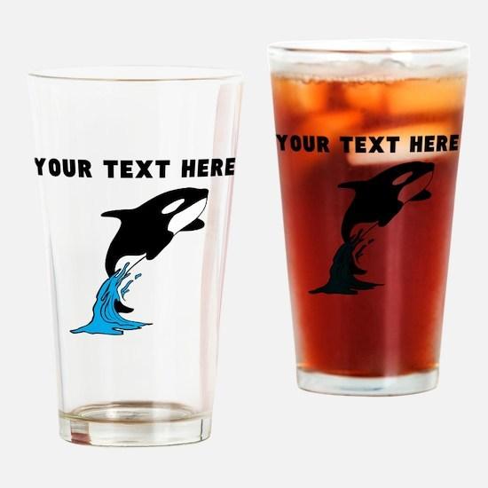 Custom Killer Whale Drinking Glass