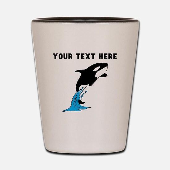 Custom Killer Whale Shot Glass