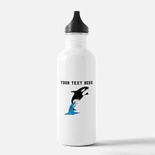 Custom Killer Whale Water Bottle