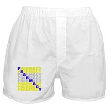 Diagonal Blue Pharmacy Boxer Shorts