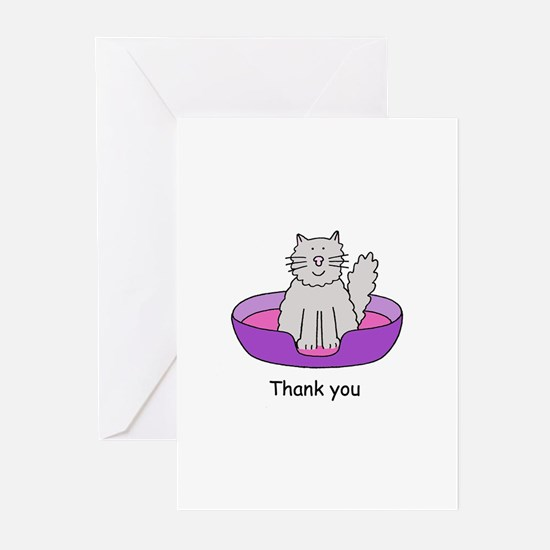 Thanks for cat sitting. Greeting Cards
