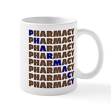 Diagonal Blue Pharmacy Mugs