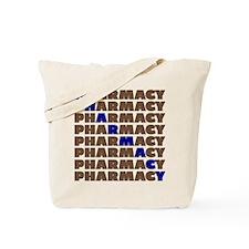 Diagonal Blue Pharmacy Tote Bag
