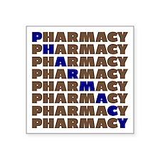 Diagonal Blue Pharmacy Sticker