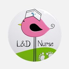 LD Nurse 10 Ornament (Round)
