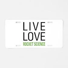Rocket Science Aluminum License Plate