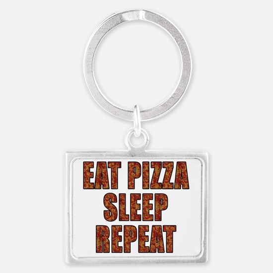 EAT PIZZA, SLEEP, REPEAT Landscape Keychain