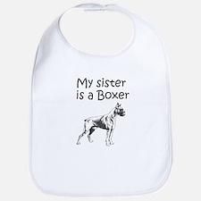 My Sister Is A Boxer Bib