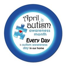 Cute Autism awareness Round Car Magnet