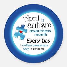 Cute Autistic advocacy Round Car Magnet