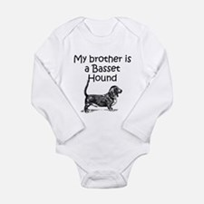 My Brother Is A Basset Hound Body Suit