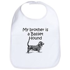 My Brother Is A Basset Hound Bib