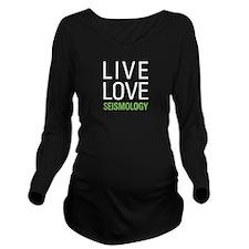 Seismology Long Sleeve Maternity T-Shirt
