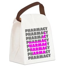 Pink Mortar and Pestle Pharmacy Canvas Lunch Bag