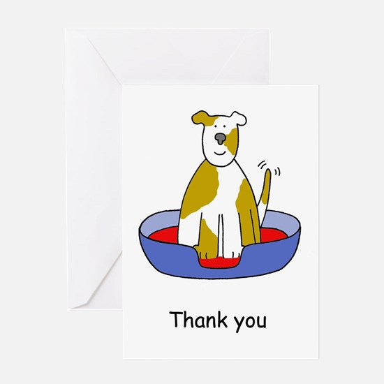 Thanks for looking after the dog. Greeting Cards