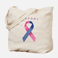 Pink and Blue Awareness Ribbon Tote Bag