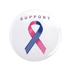"""Pink and Blue Awareness Rib 3.5"""" Button (100 pack)"""