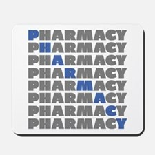 Diagonal Blue Pharmacy Mousepad