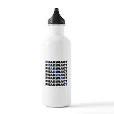 Diagonal Blue Pharmacy Water Bottle