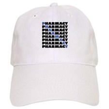 Diagonal Blue Pharmacy Baseball Baseball Cap