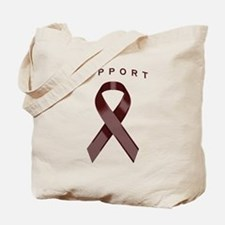 Burgundy Awareness Ribbon Tote Bag
