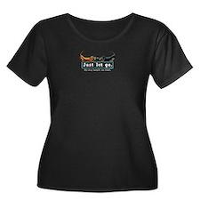 Dachshund Let Go Dk Plus Size T-Shirt