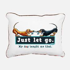 Dachshund Let Go Rectangular Canvas Pillow