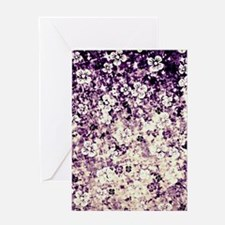 Flower Power in Midnight Violet Greeting Cards