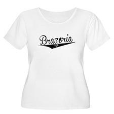 Brazoria, Retro, Plus Size T-Shirt