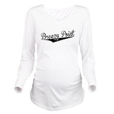 Breezy Point, Retro, Long Sleeve Maternity T-Shirt